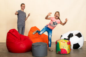kids and beanbags